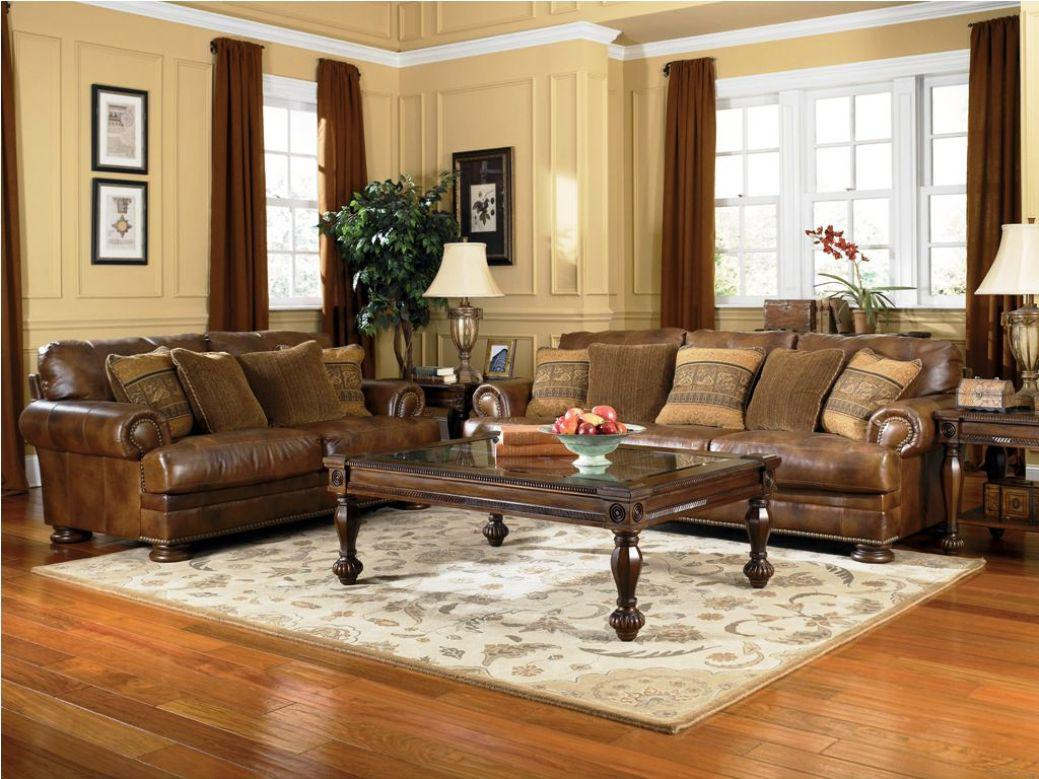 Image of: Genuine Leather Living Room Sets