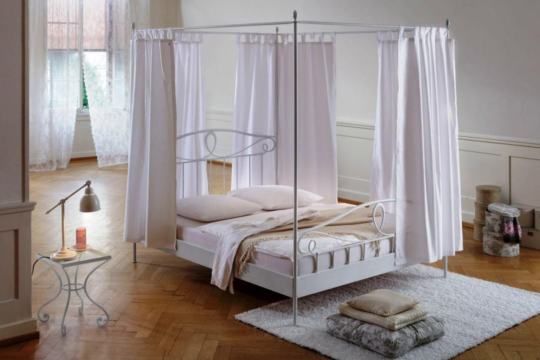 Image of: Iron Canopy Bed Frame Metal