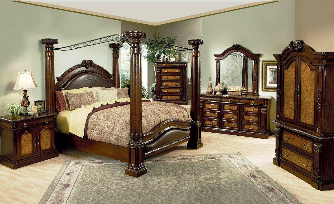 Image of: King Size Canopy Bed Ashley Furniture