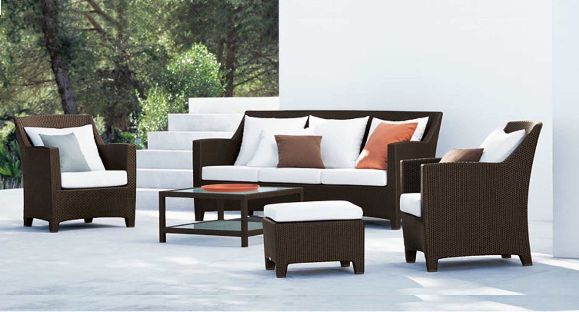Image of: All Weather Wicker Sofa