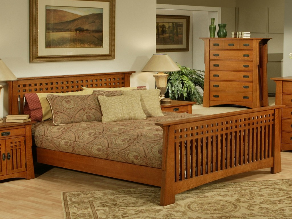 Image of: All Wood Bedroom Furniture