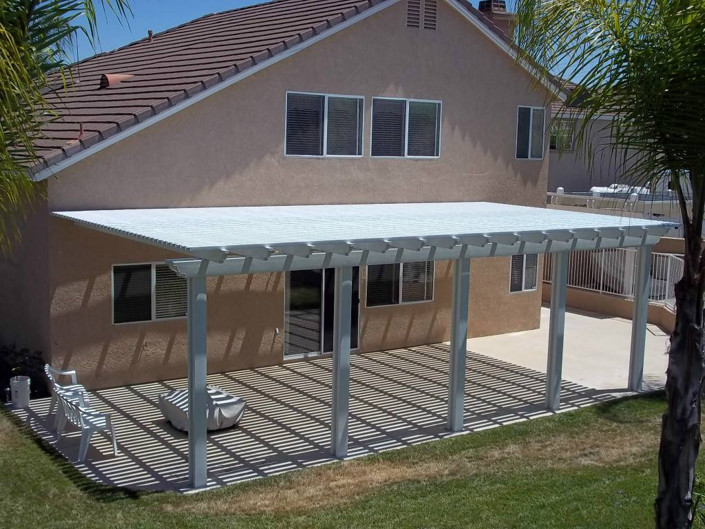 Image of: Aluminum Patio Cover Materials