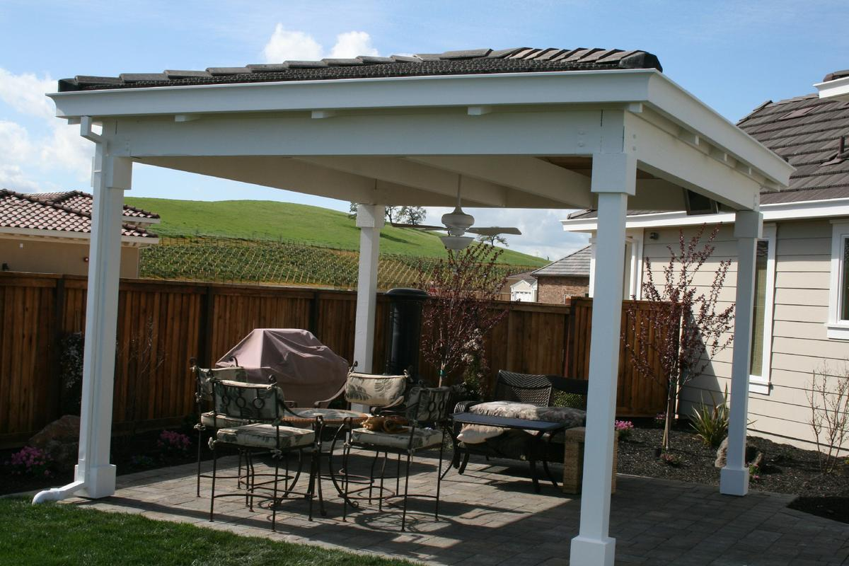 Image of: Aluminum Patio Cover Supplies