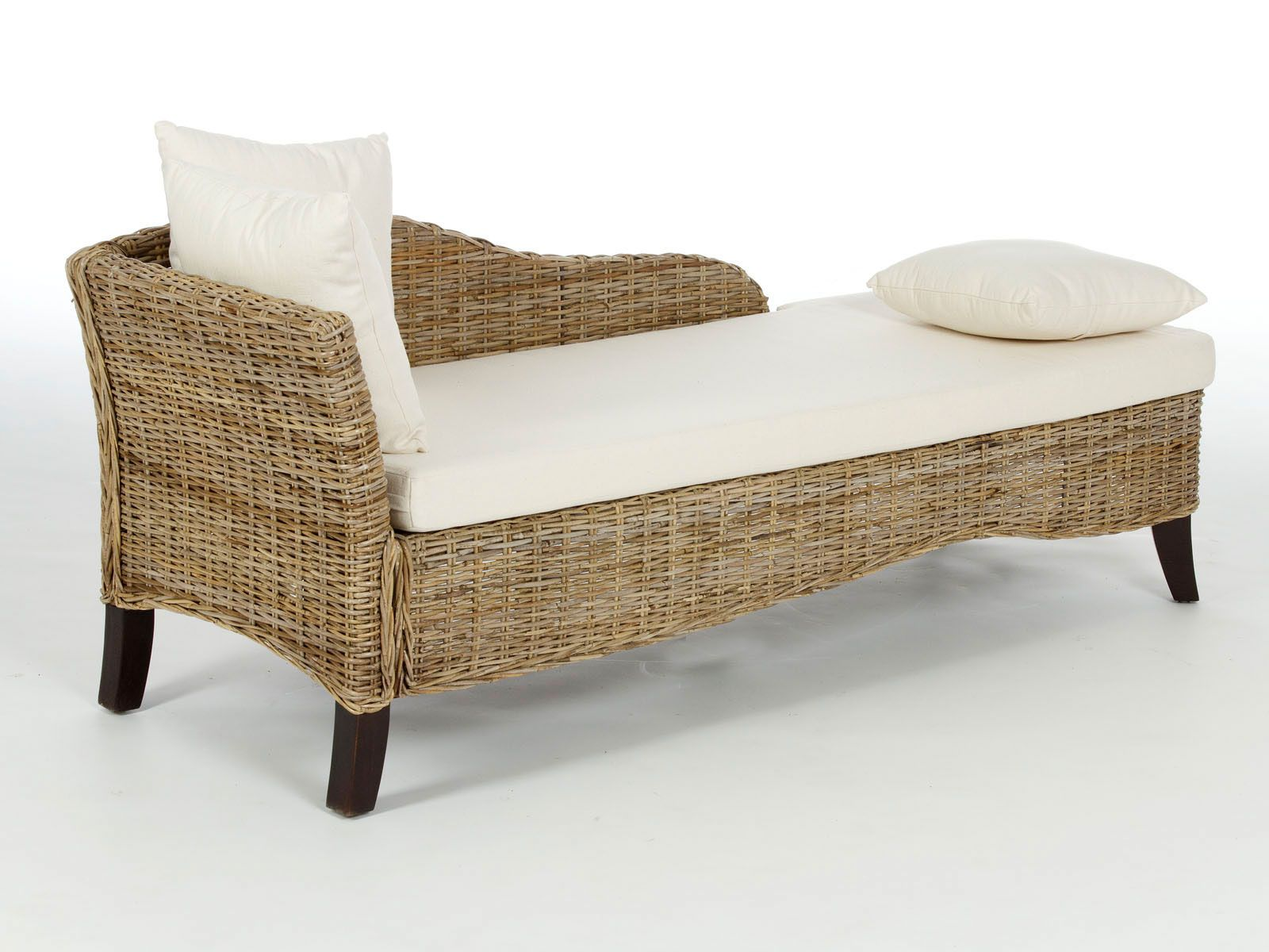 Image of: Antique Wicker Sofa