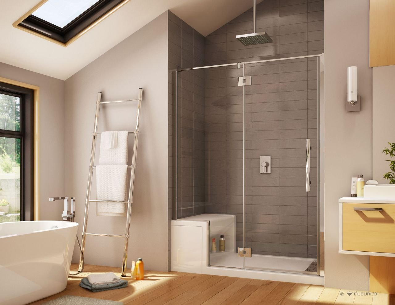 Image of: Bifold Shower Door