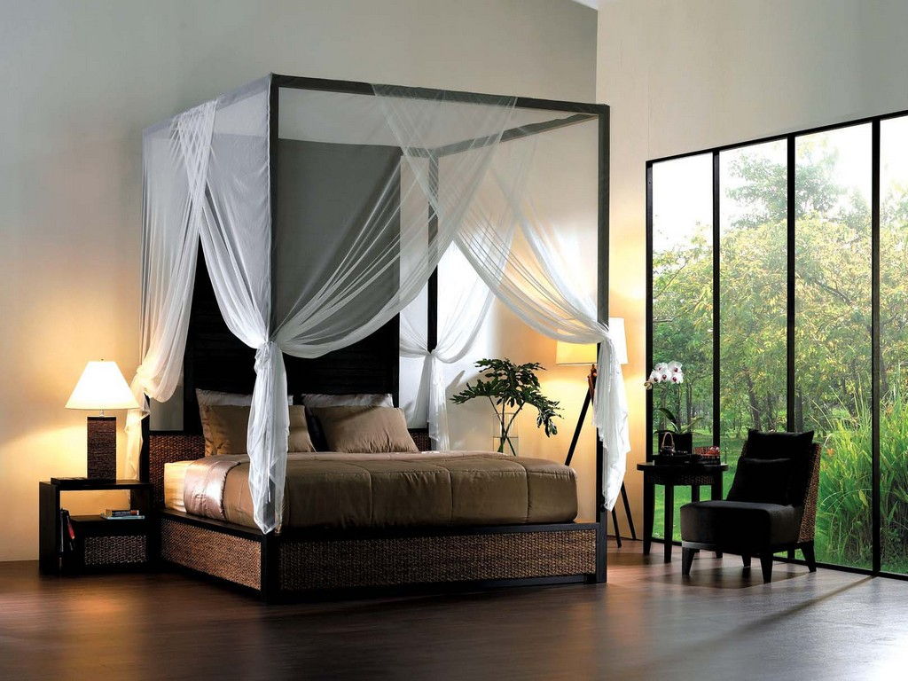 Image of: Canopy Bed Curtains Elegant Set