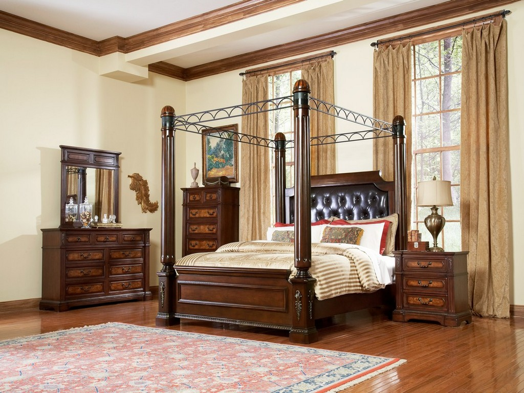 Image of: Canopy Bedroom Sets King