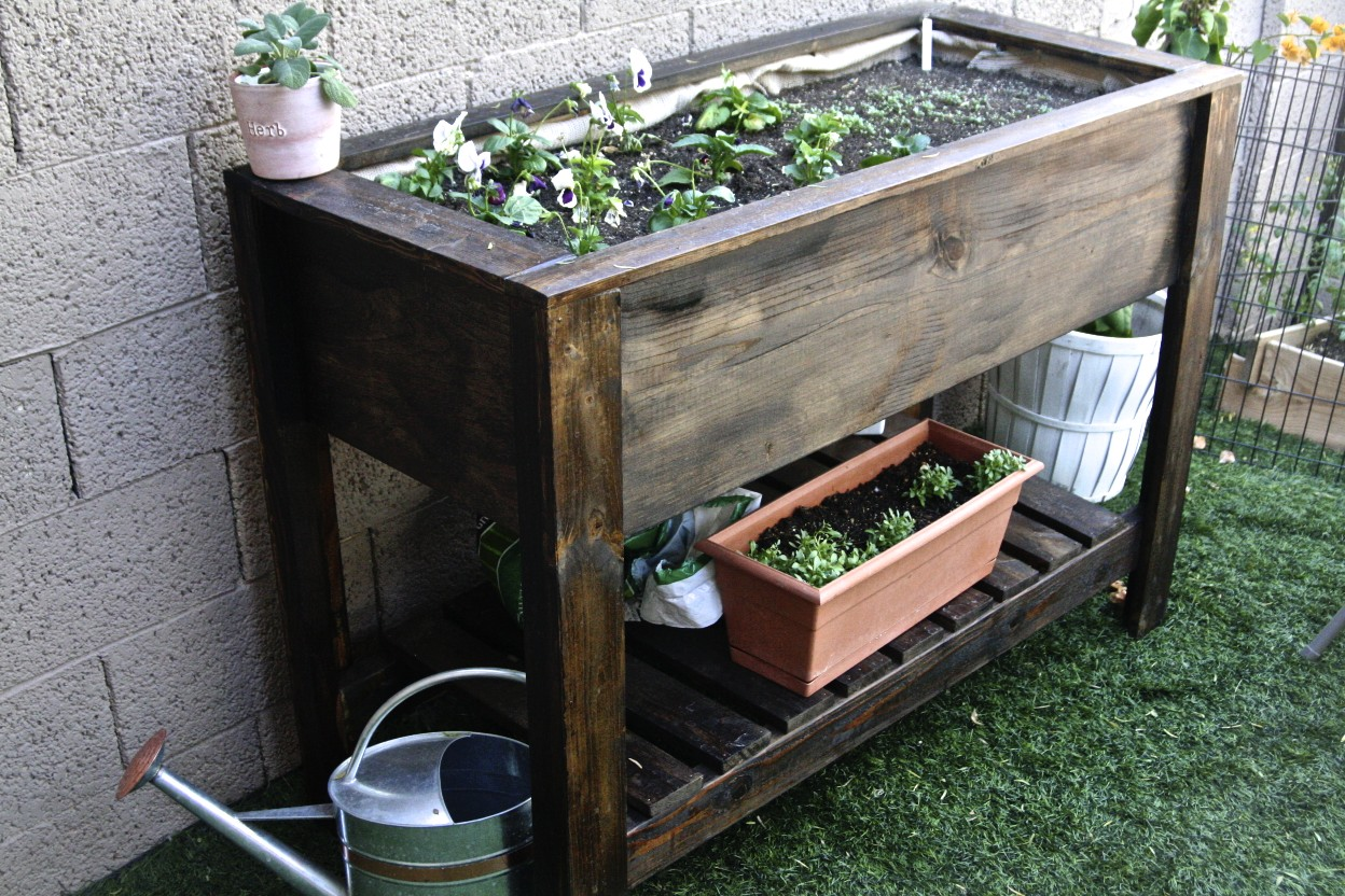 Image of: Cedar Raised Planter Plans