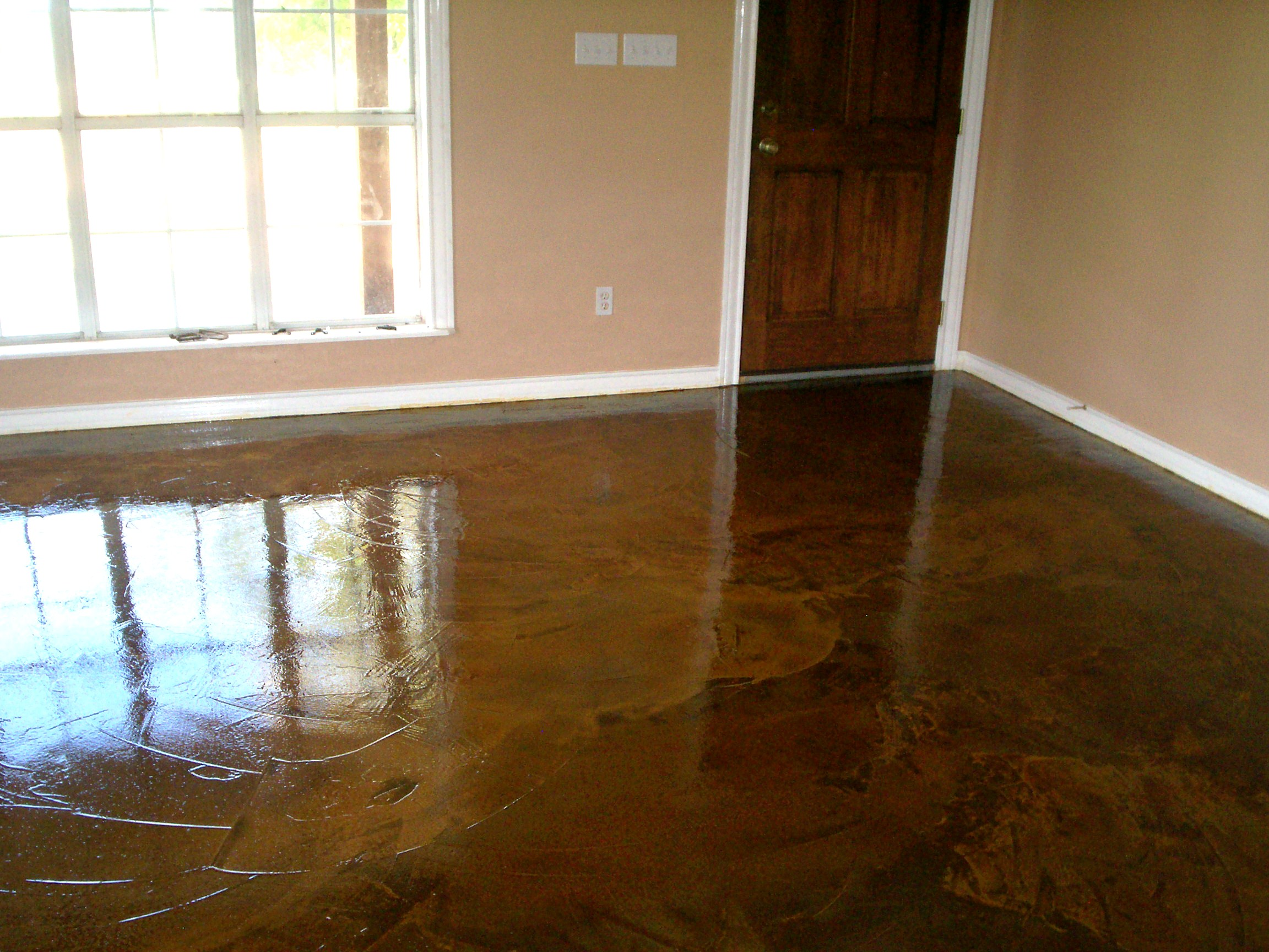 Image of: Concrete Floor Finishes Acid Stain