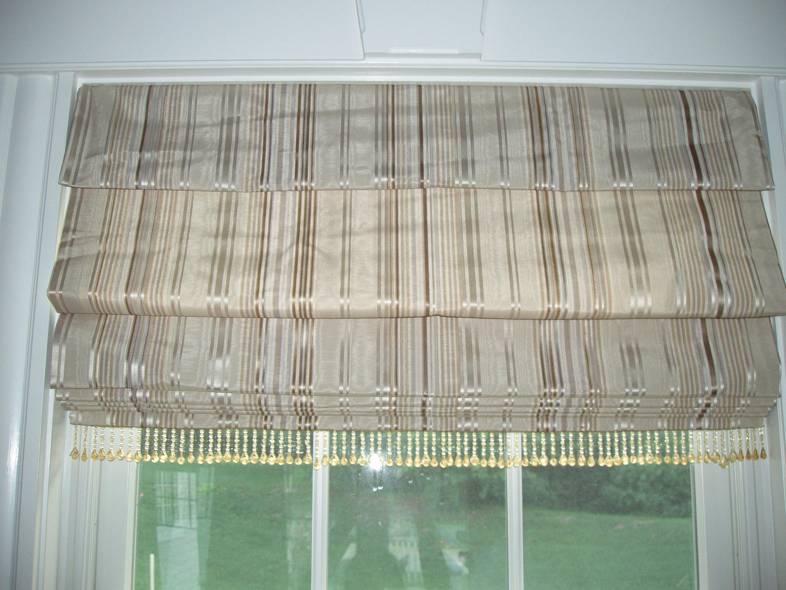 Image of: Cordless Roman Shades