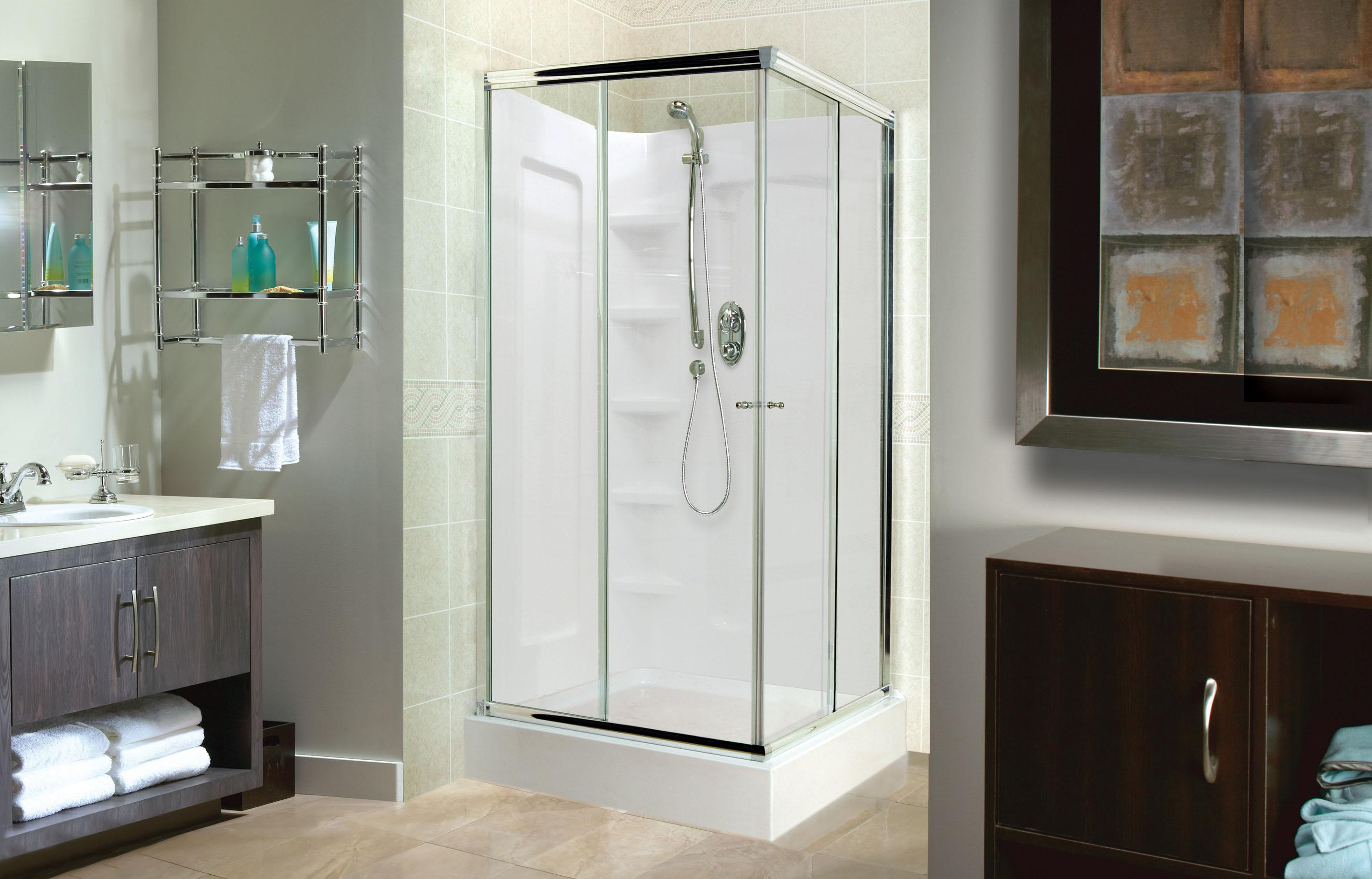 Image of: Corner Shower Enclosure Kits