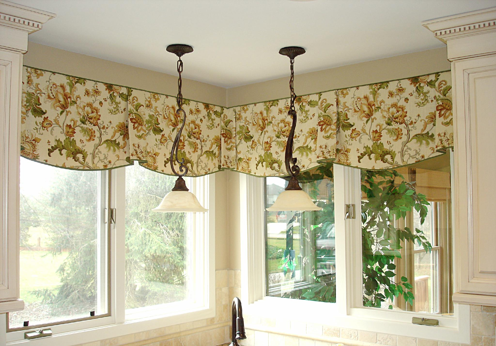 Image of: Curtain Window Treatment Patterns