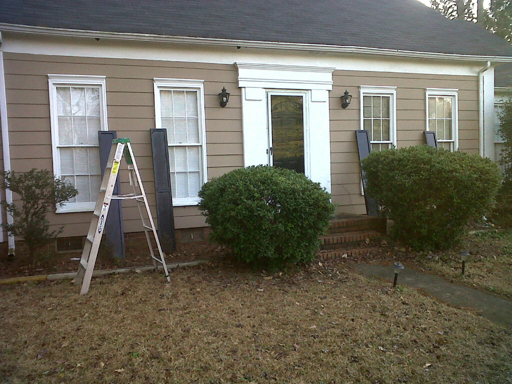 Image of: Custom Exterior Window Shutters