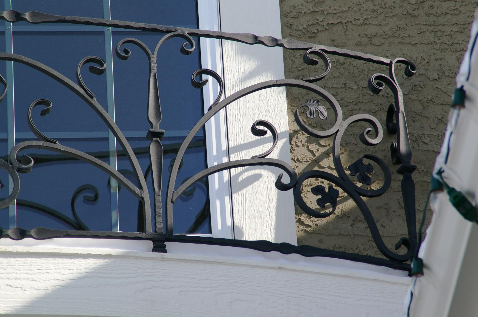 Custom Wrought Iron Window Boxes