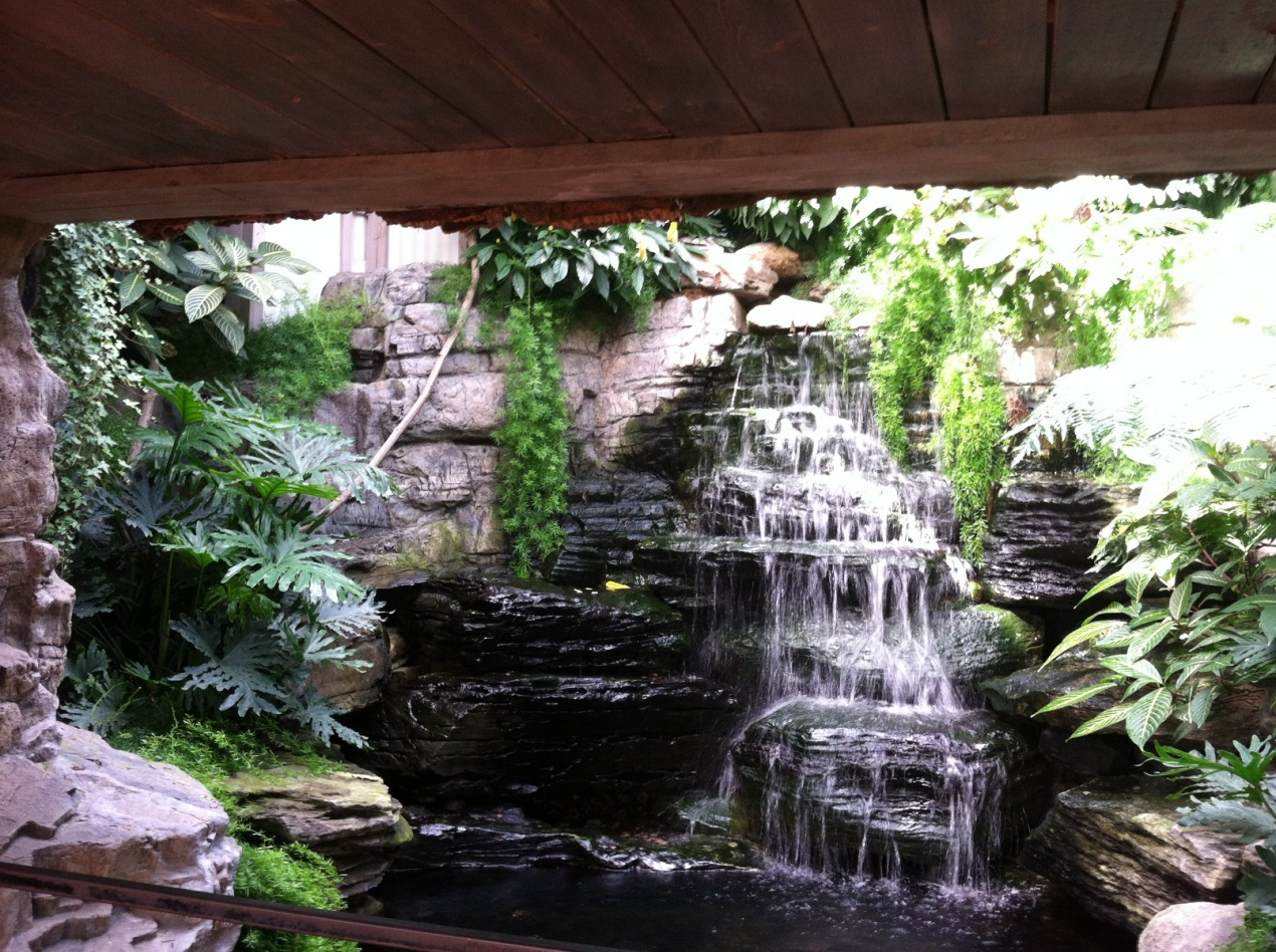 Image of: Do It Yourself Indoor Waterfall