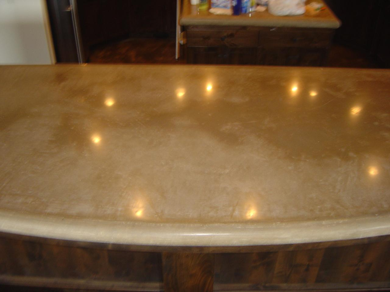 Image of: Dry Polishing Concrete Countertops
