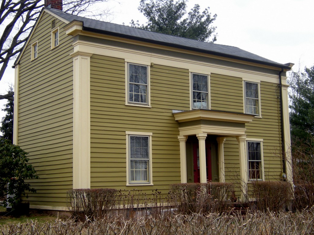 Image of: Exterior Paint Color Schemes With Brick