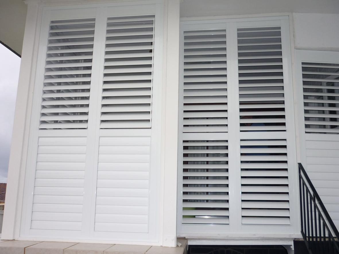 Image of: Exterior Plantation Shutter Doors