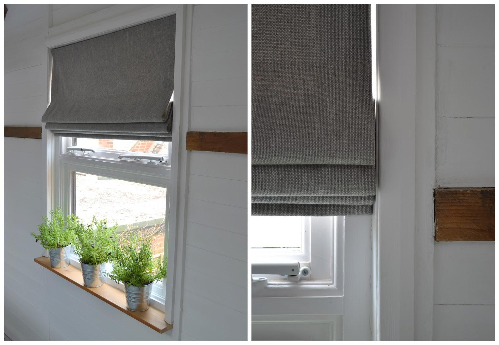 Image of: Fabric Roman Shades Lowes