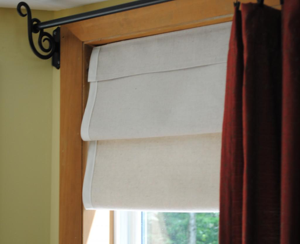 Image of: Fabric Roman Shades