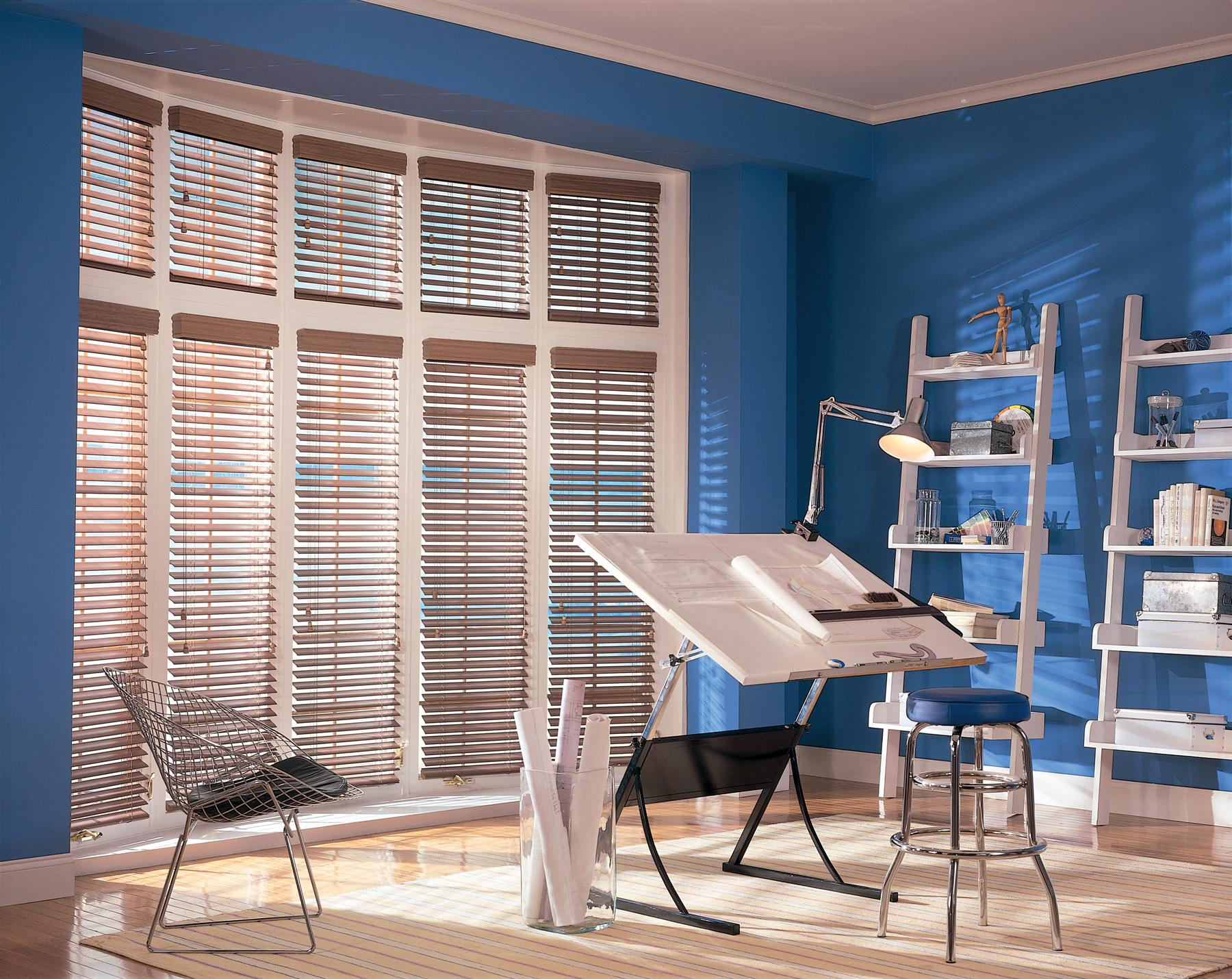 Image of: Faux Wood Blinds