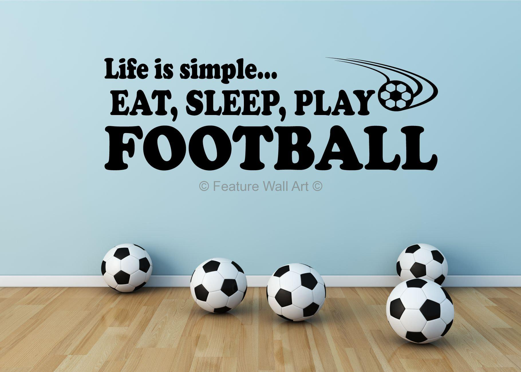 Image of: Football Wall Stickers For Bedrooms