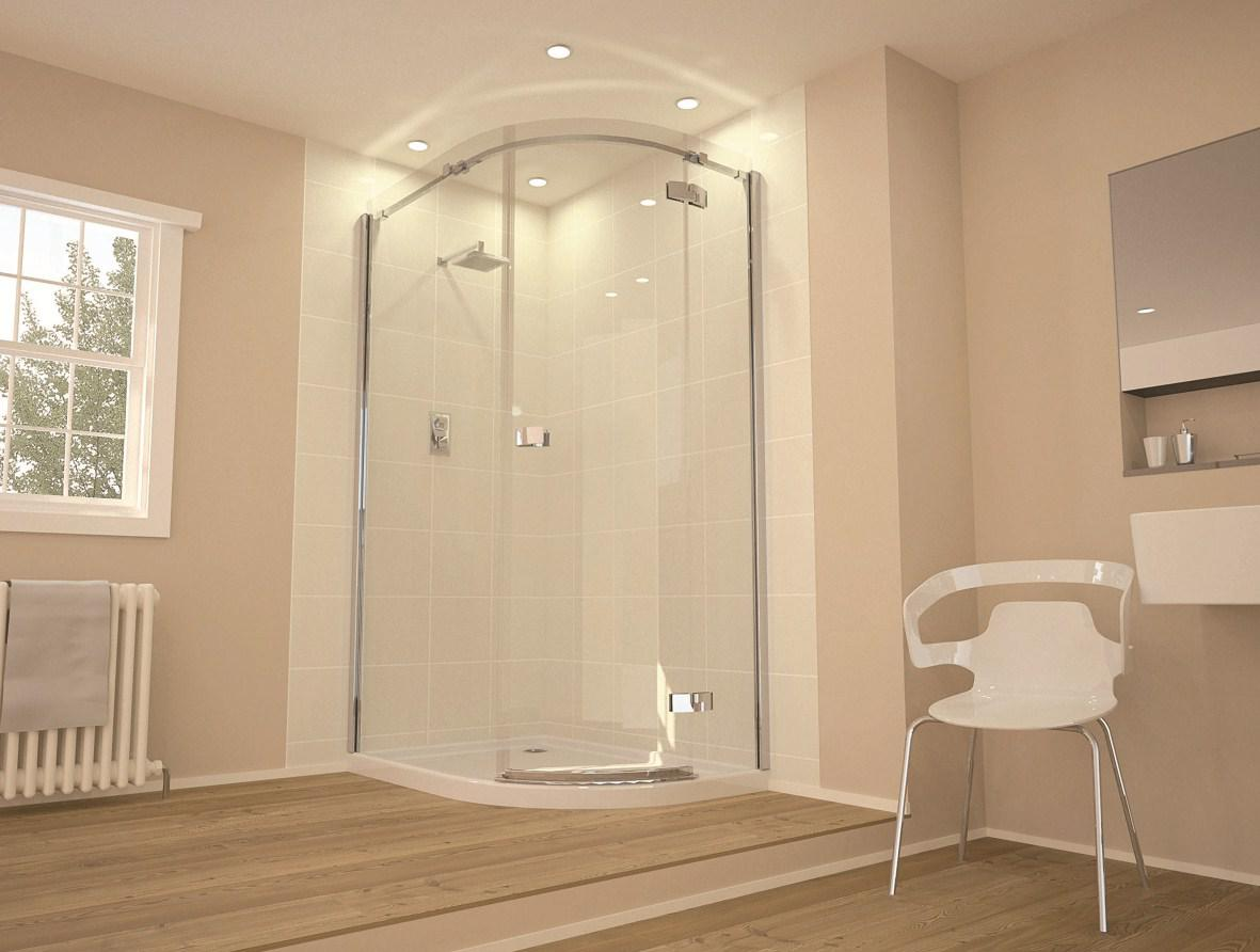 Image of: Frameless Glass Shower Enclosure Hardware