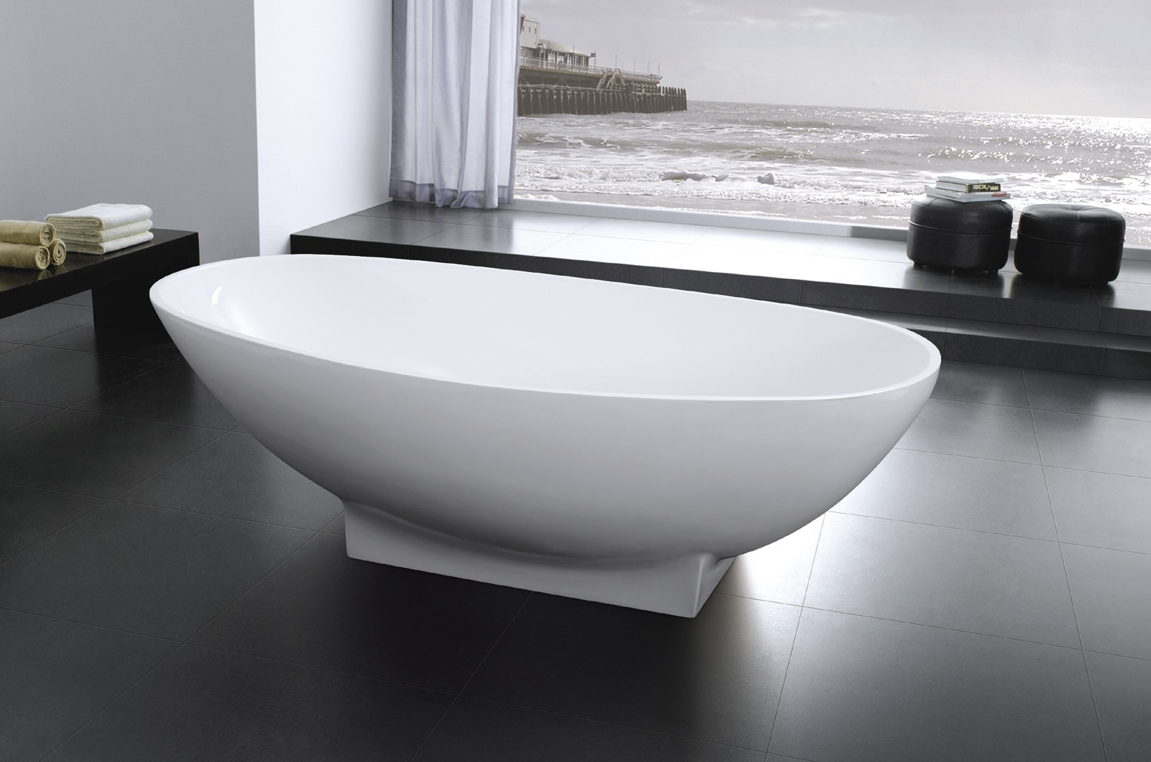 Image of: Free Standing Whirlpool Bathtub