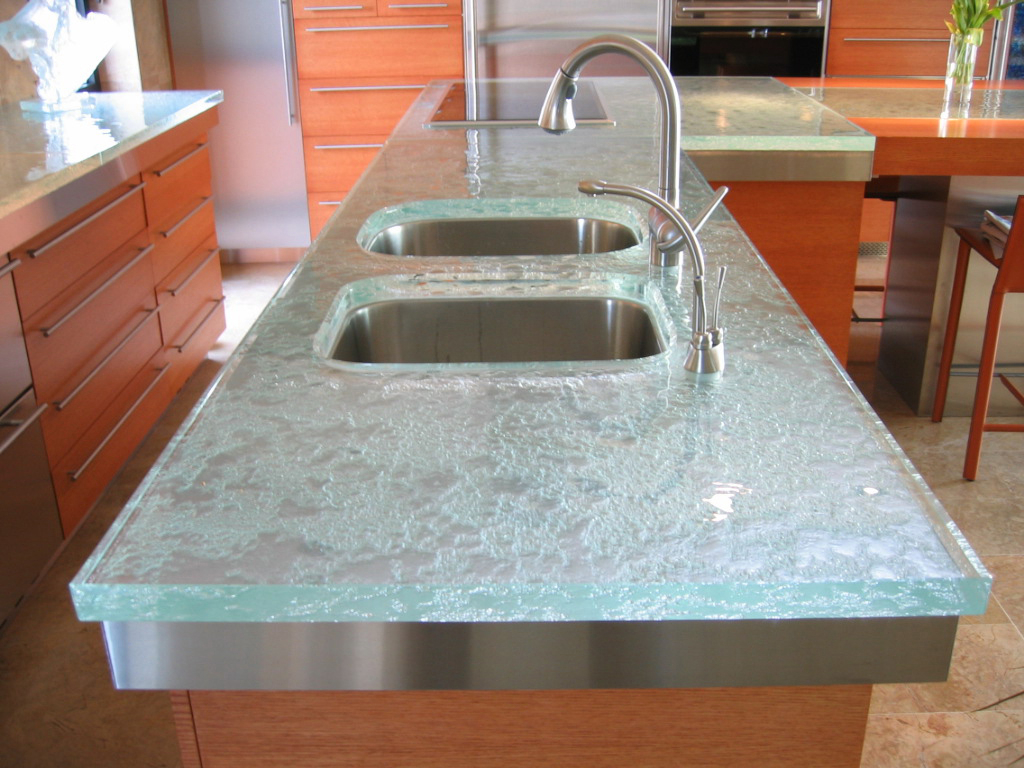 Image of: Glass Countertops Cost