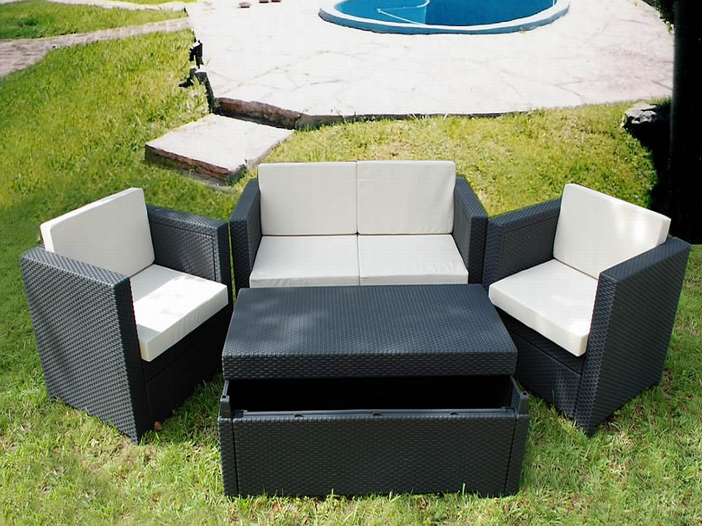 Image of: Gray Resin Wicker Outdoor Furniture