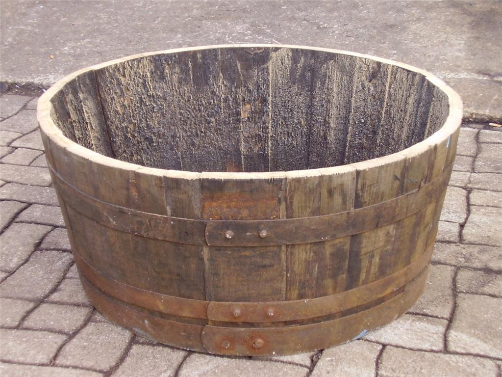 Image of: Half Whisky Barrel Planter