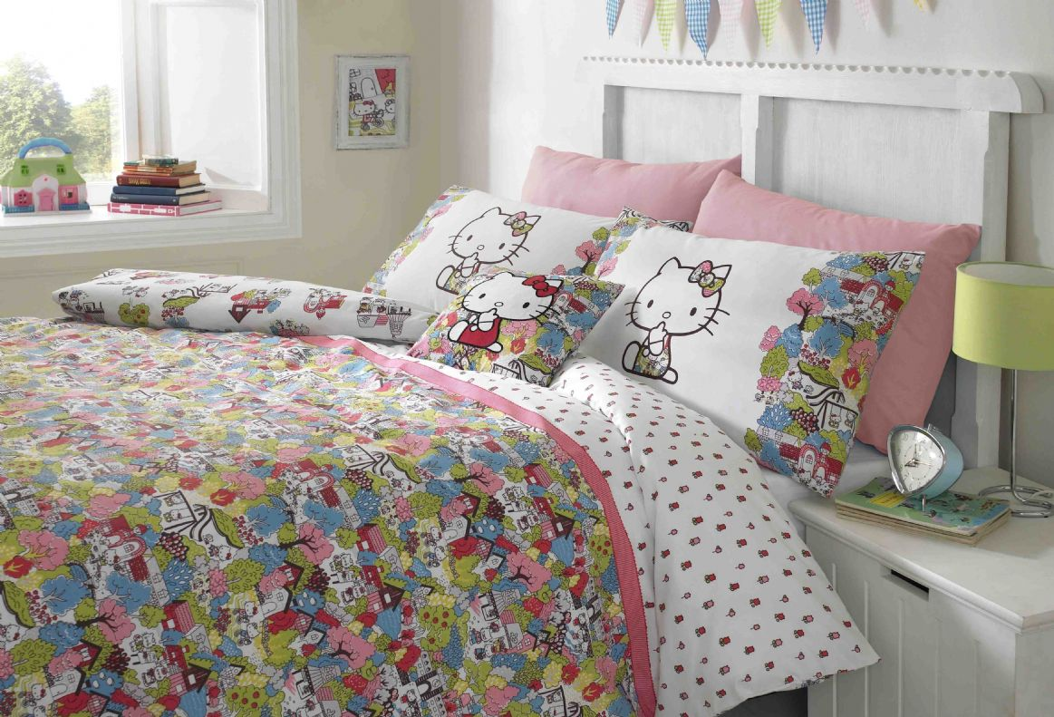 Image of: Hello Kitty Headboard Decal