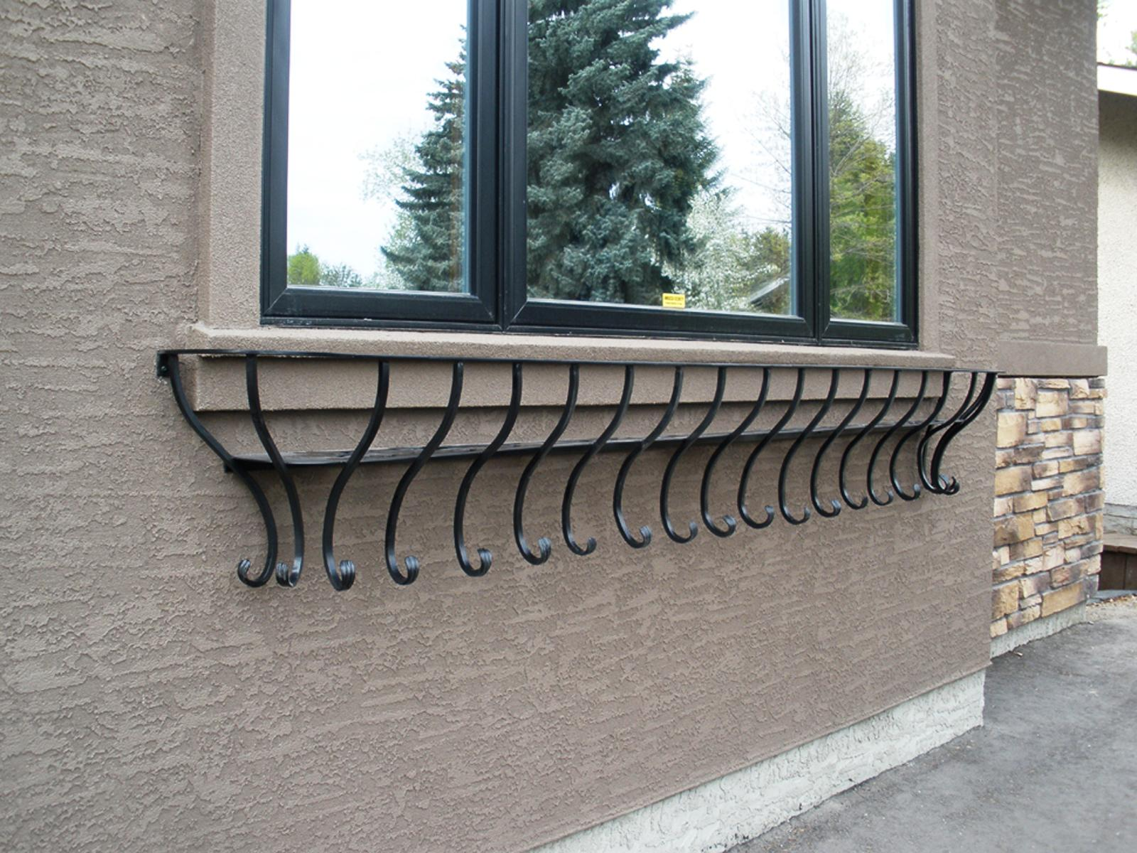 Image of: Home Depot Wrought Iron Window Boxes