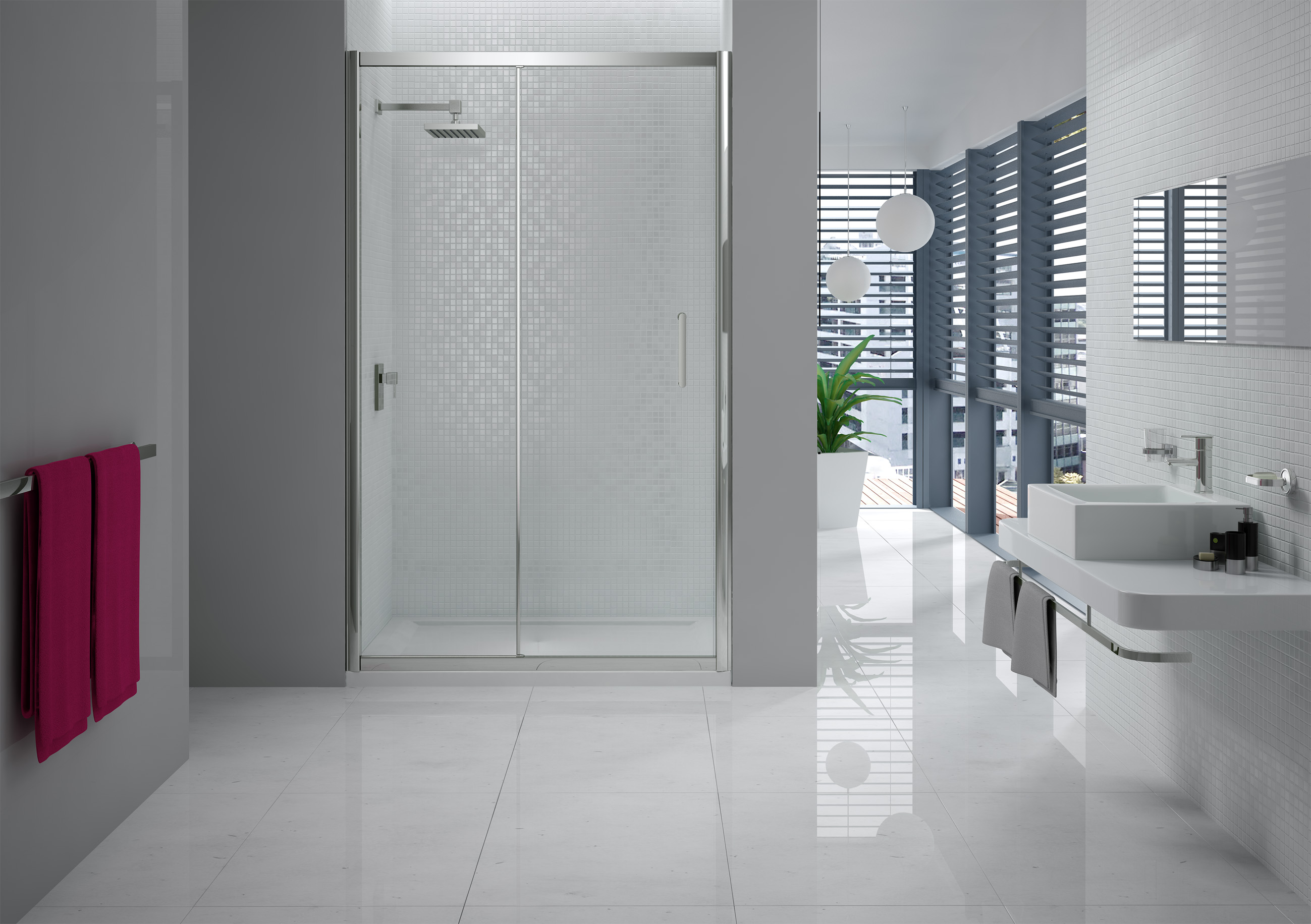 Image of: Hydroslide Shower Door
