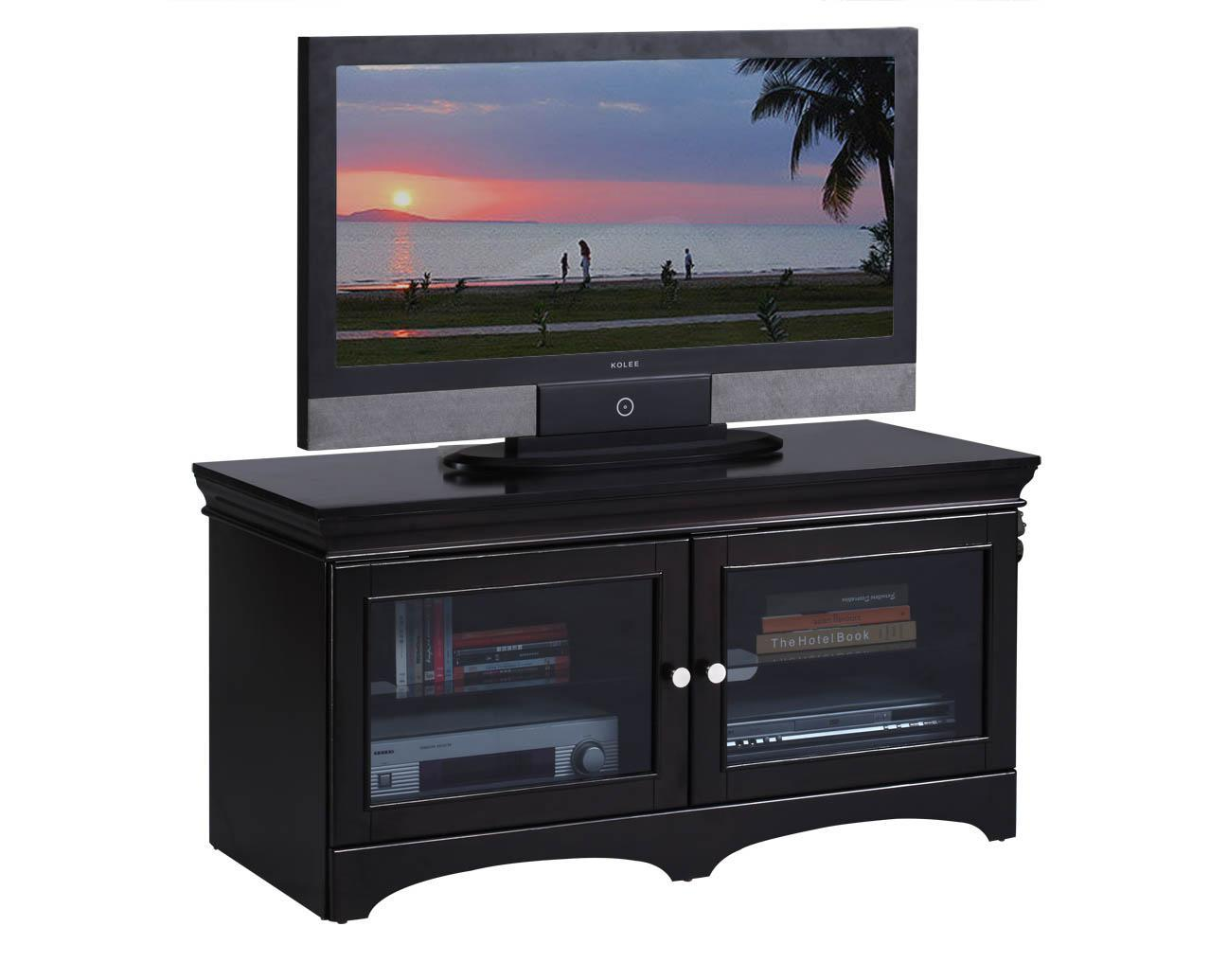 Image of: Ikea Tv Stand Black