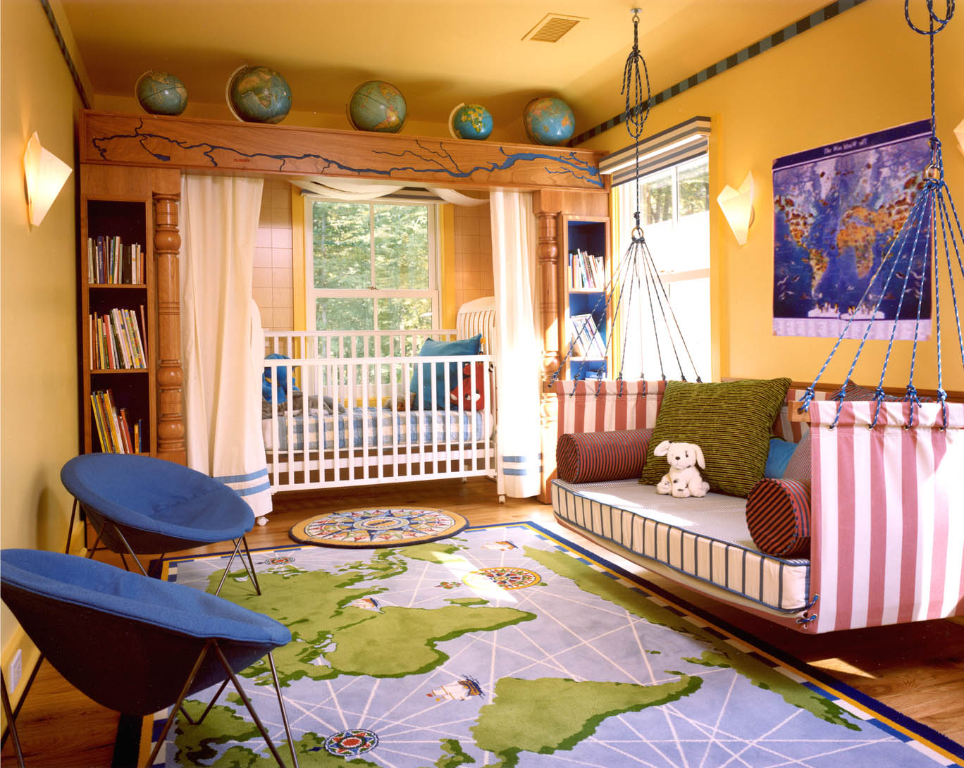Image of: Kids Bedroom Color Schemes