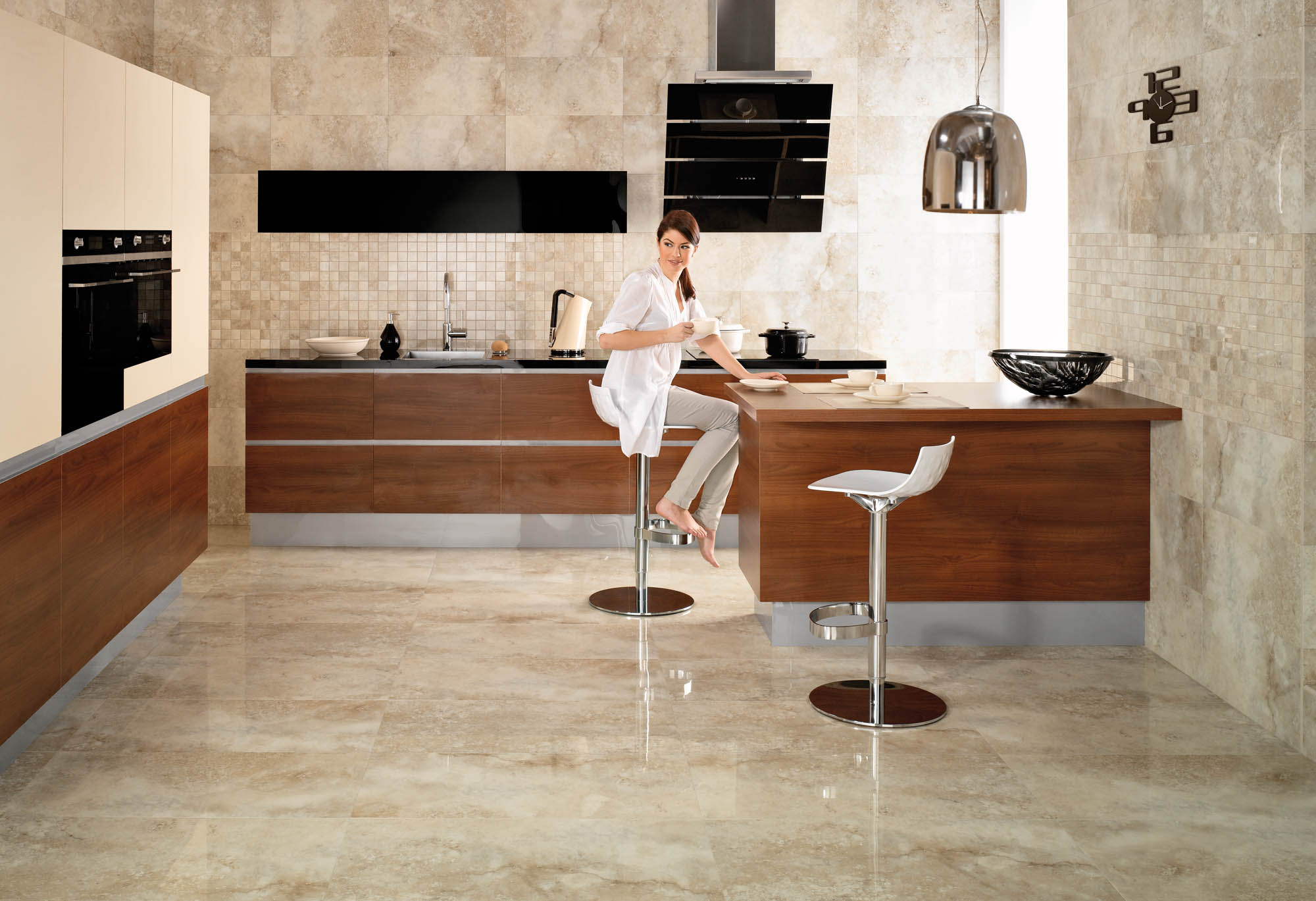 Image of: Kitchen Vinyl Tile