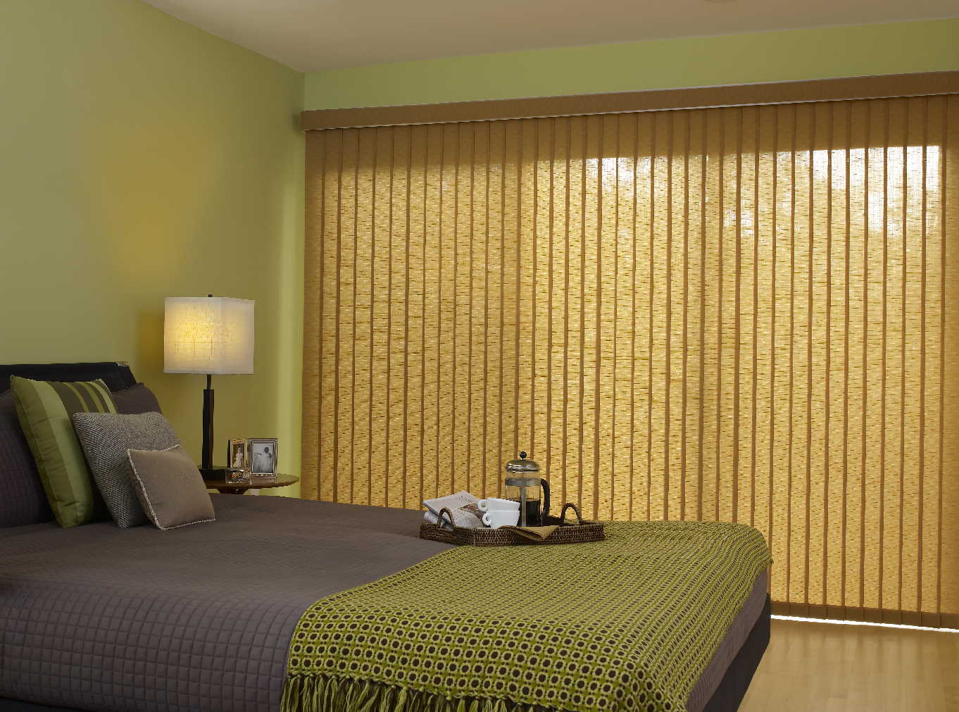 Image of: Lowes Faux Wood Vertical Blinds
