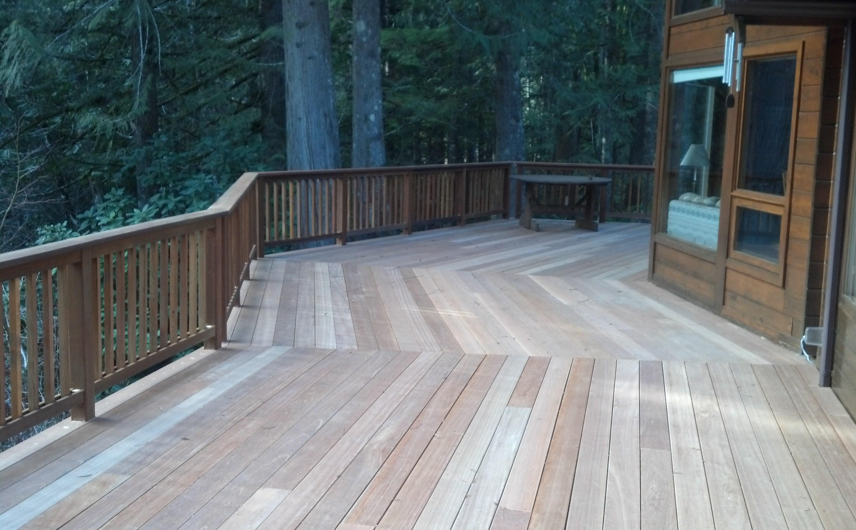 Image of: Mahogany Deck Care