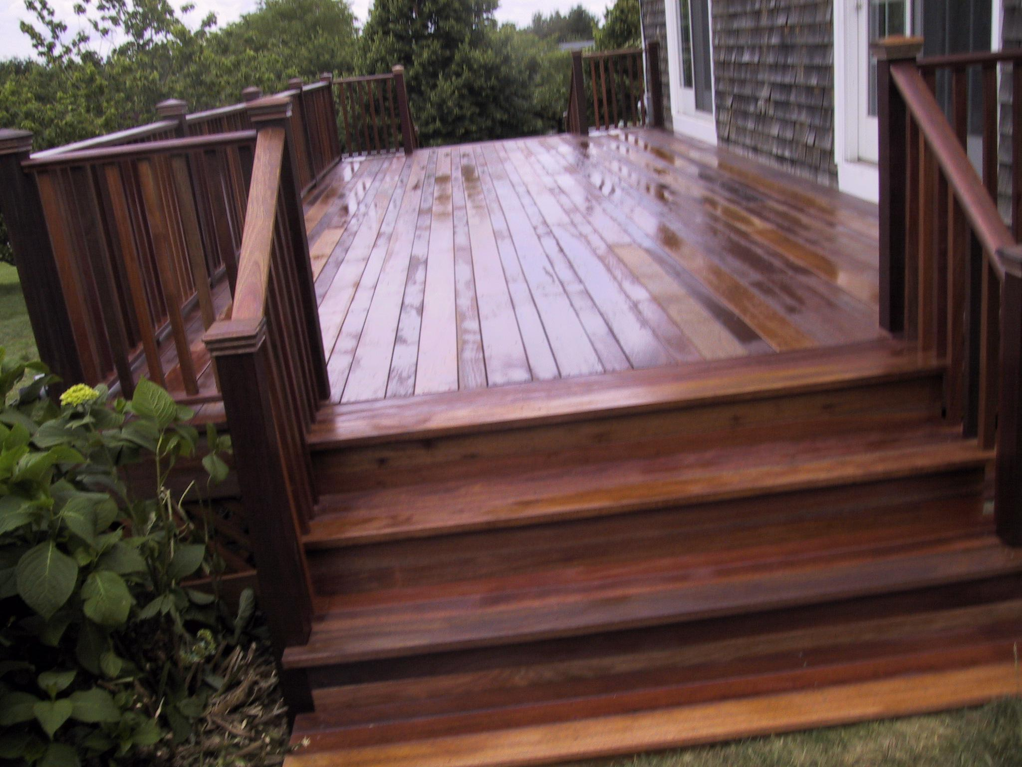 Image of: Mahogany Decking Price