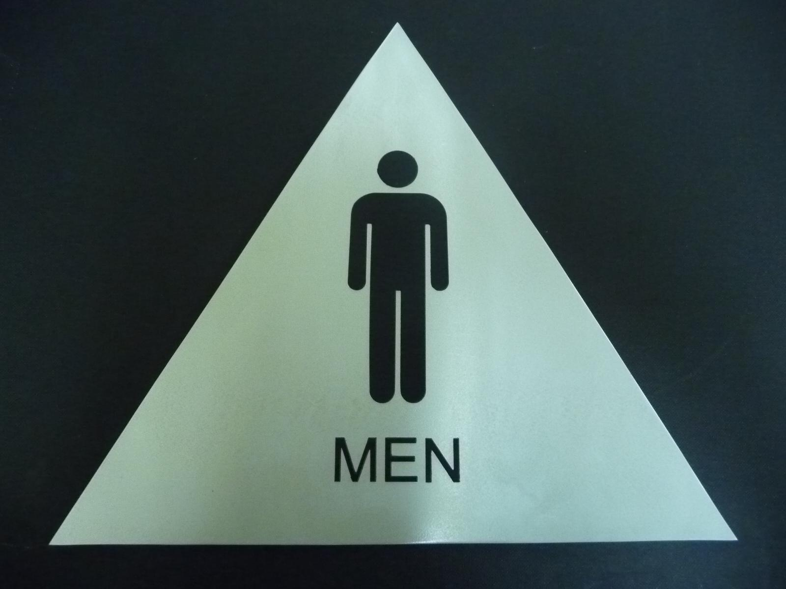 Image of: Mens Bathroom Sign