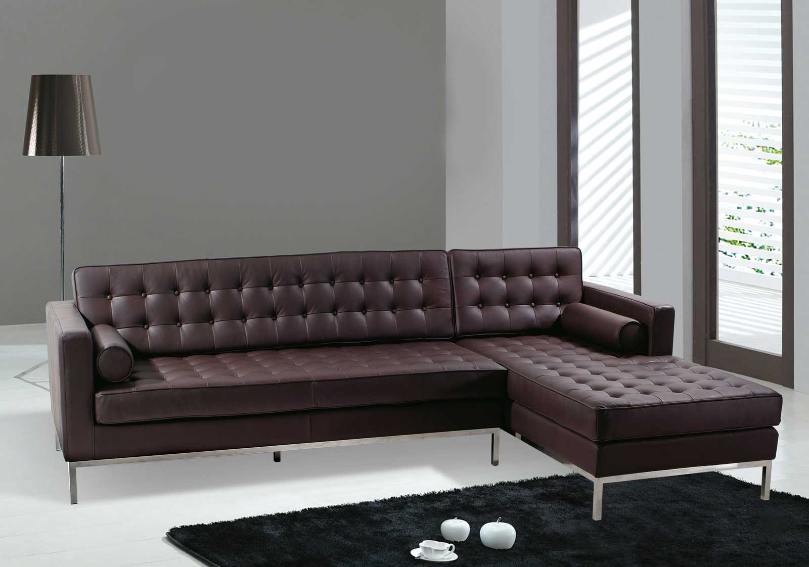 Image of: Modular Sectional Sofa Leather