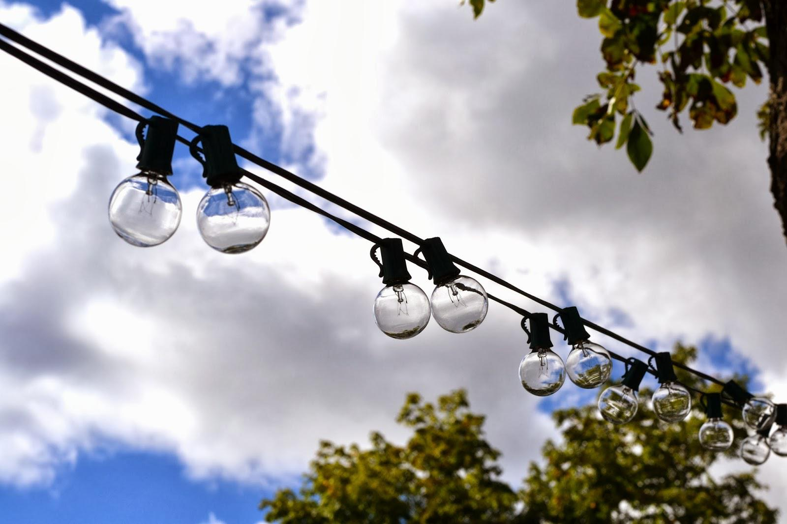 Image of: Outdoor Solar String Lighting