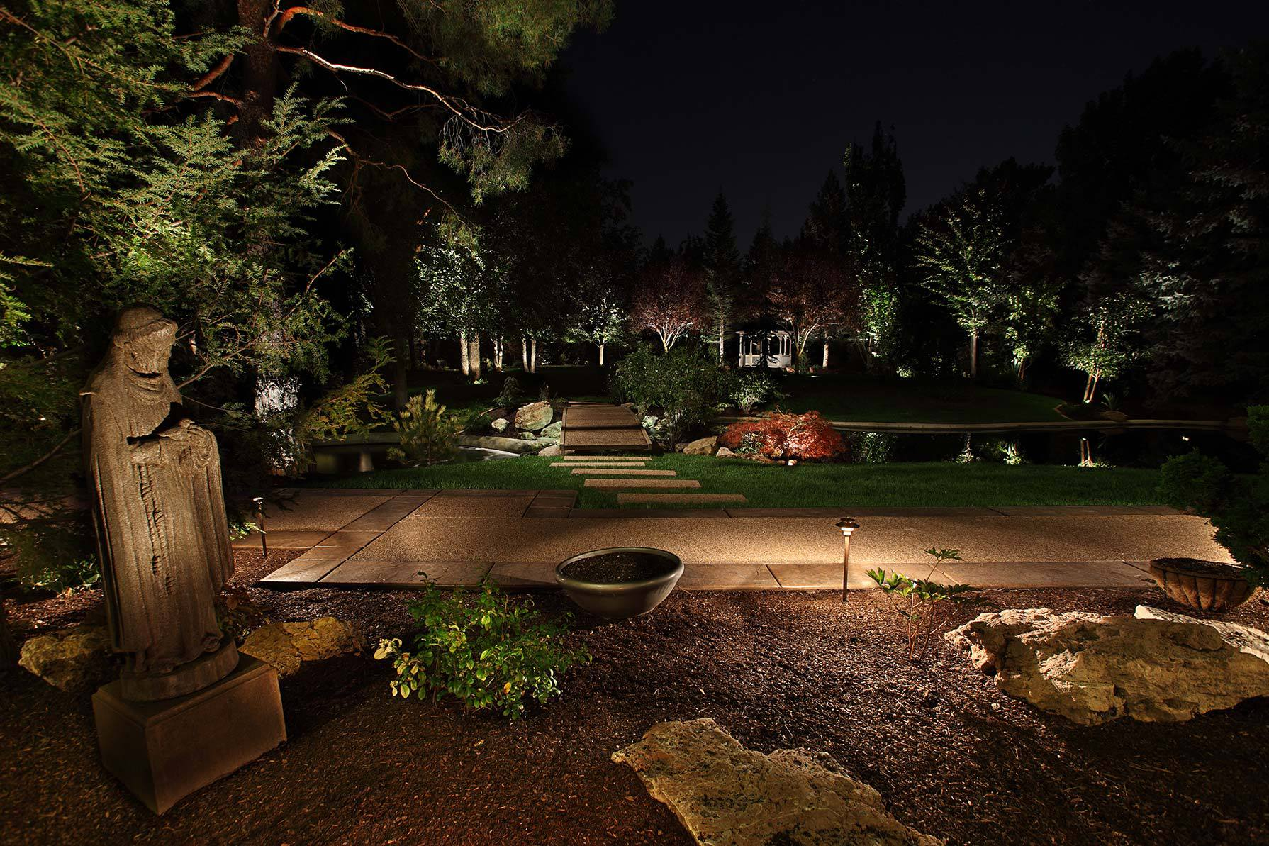 Image of: Outdoor Up Lighting Fixtures