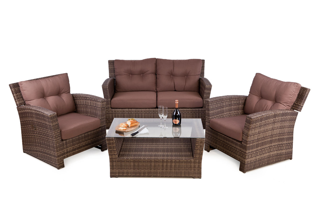 Image of: Outdoor Wicker Loveseat