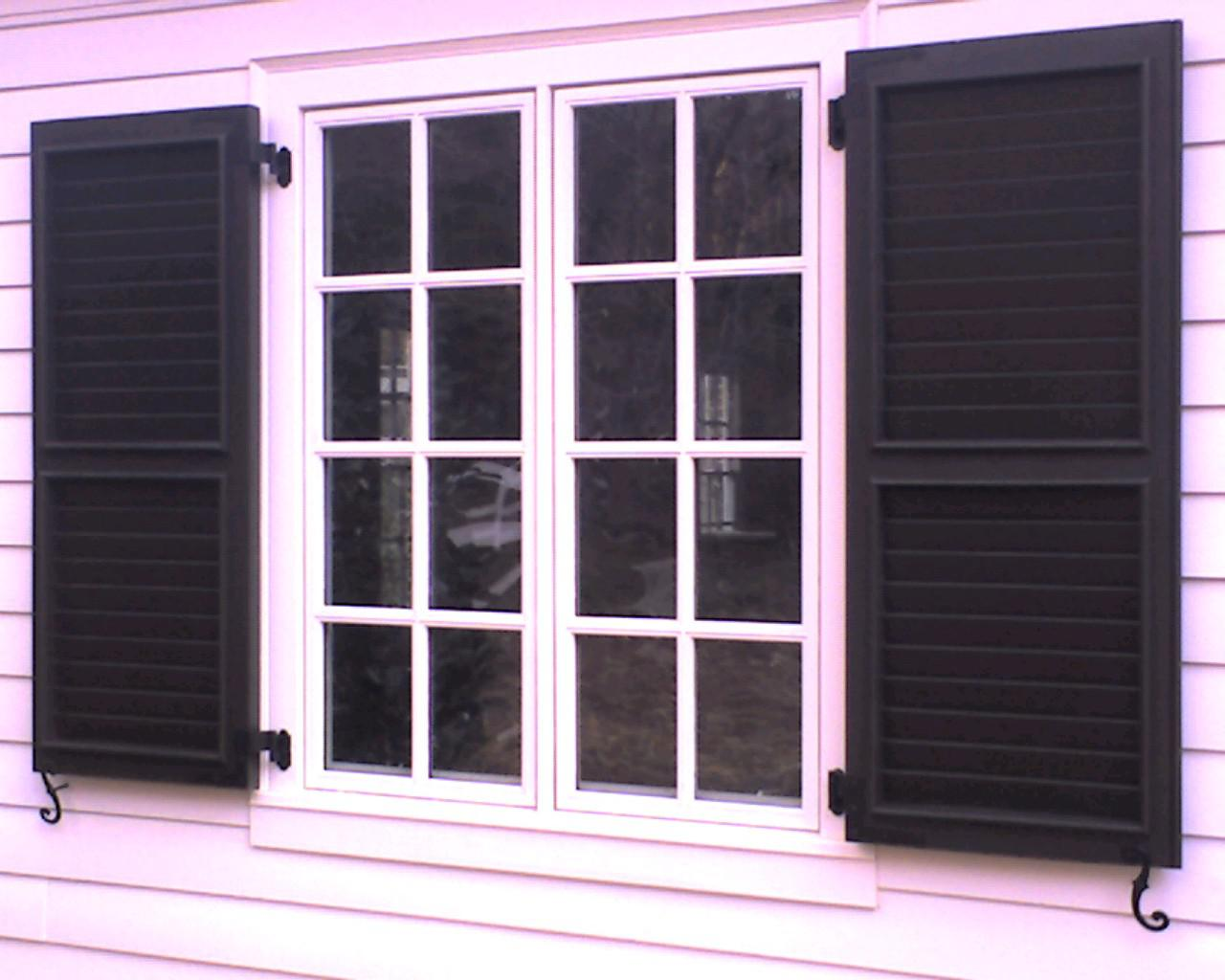 Image of: Outdoor Wood Shutters