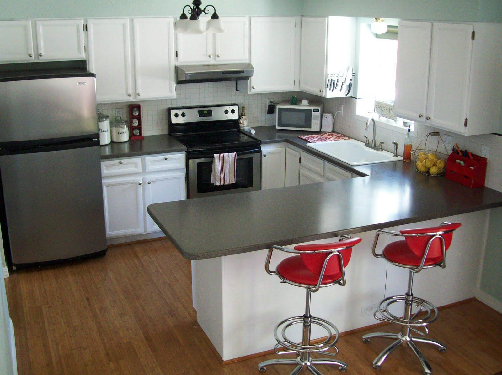 Image of: Paint Kitchen Cabinets White Before And After