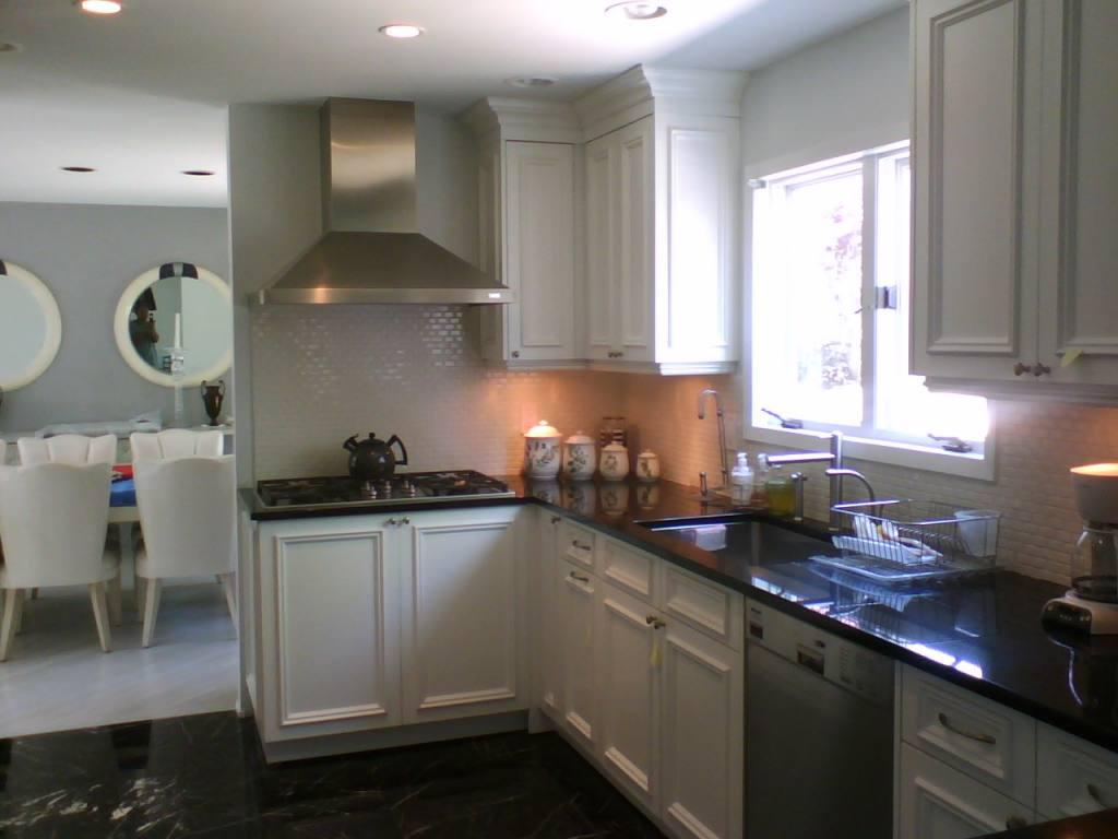 Image of: Painting Oak Cabinets Before And After