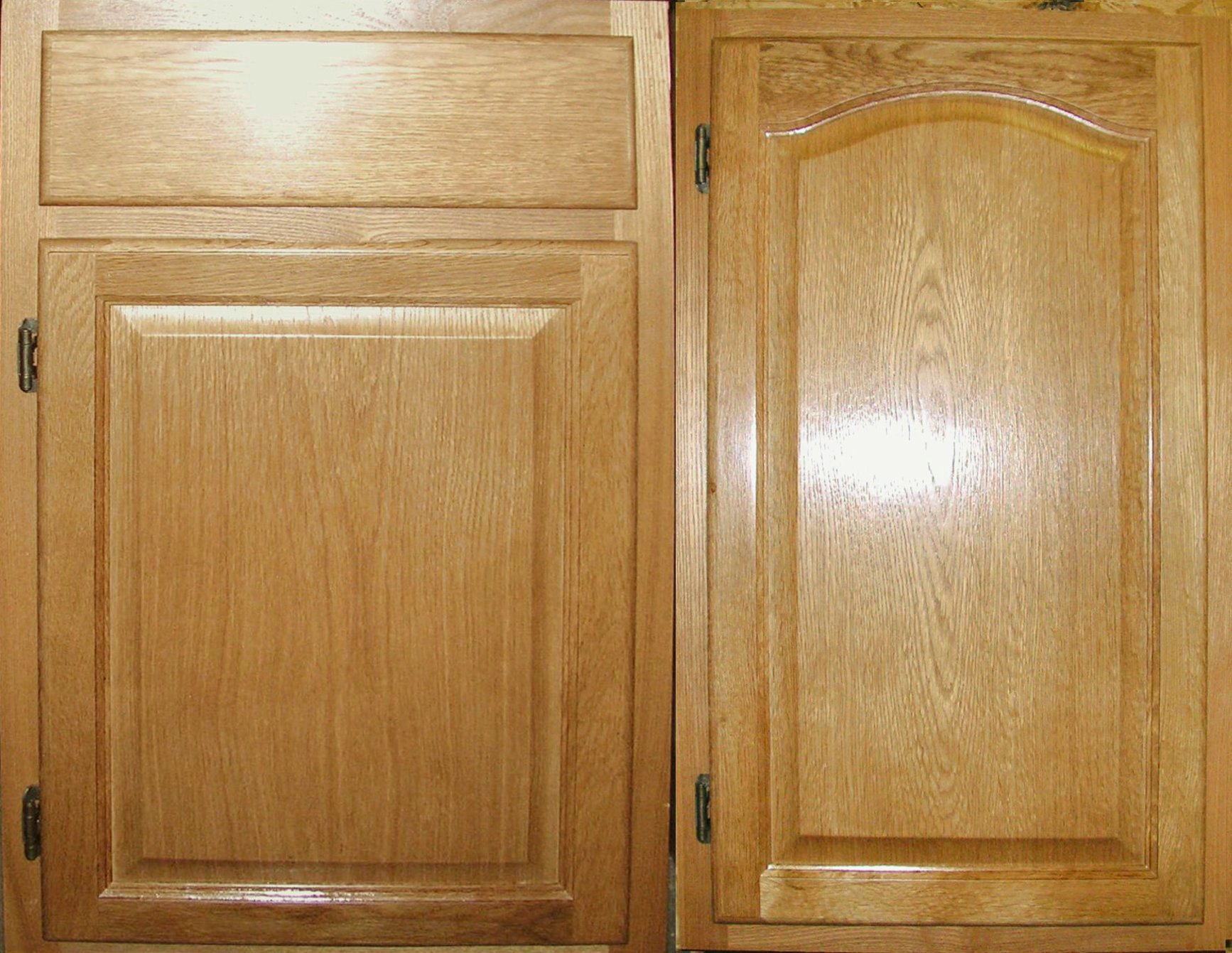 Image of: Painting Unfinished Oak Cabinets