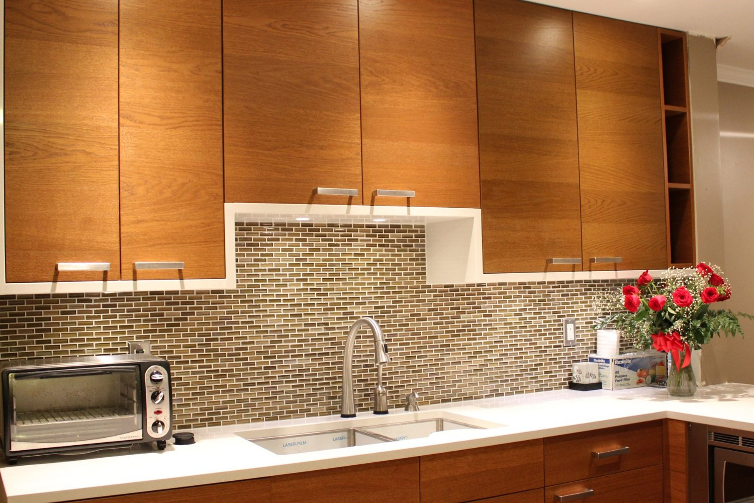 Image of: Peel And Stick Backsplash Tiles Lowes
